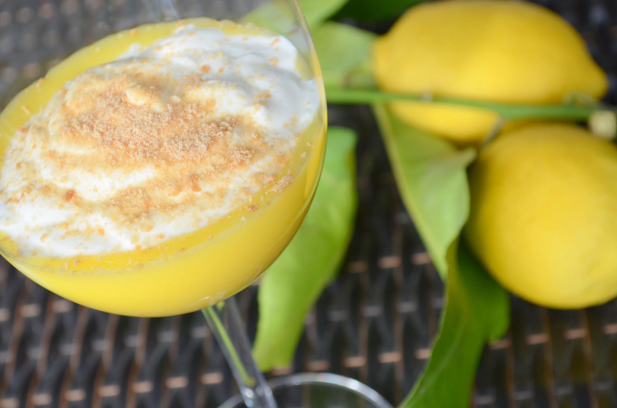 'Schott' de lemon curd baunilhado e iogurte grego