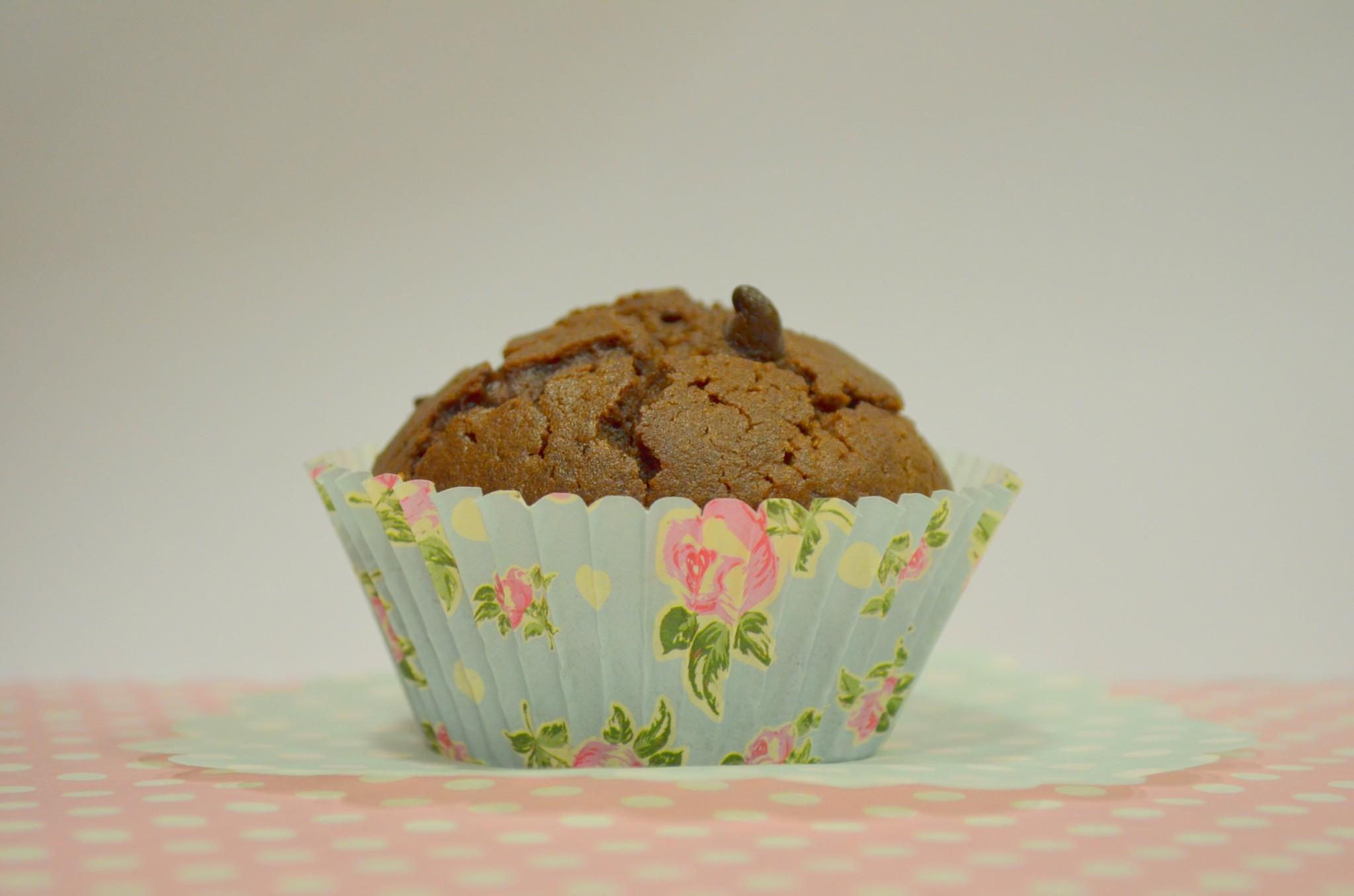 Muffins de chocolate com pepitas