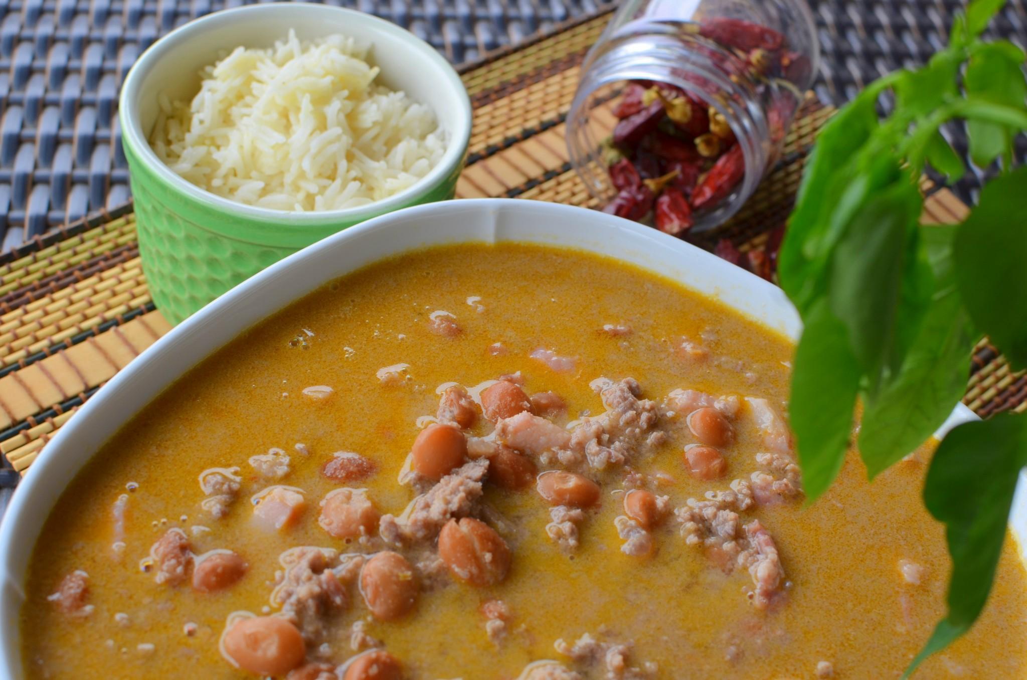 Coconut milk chilli beans