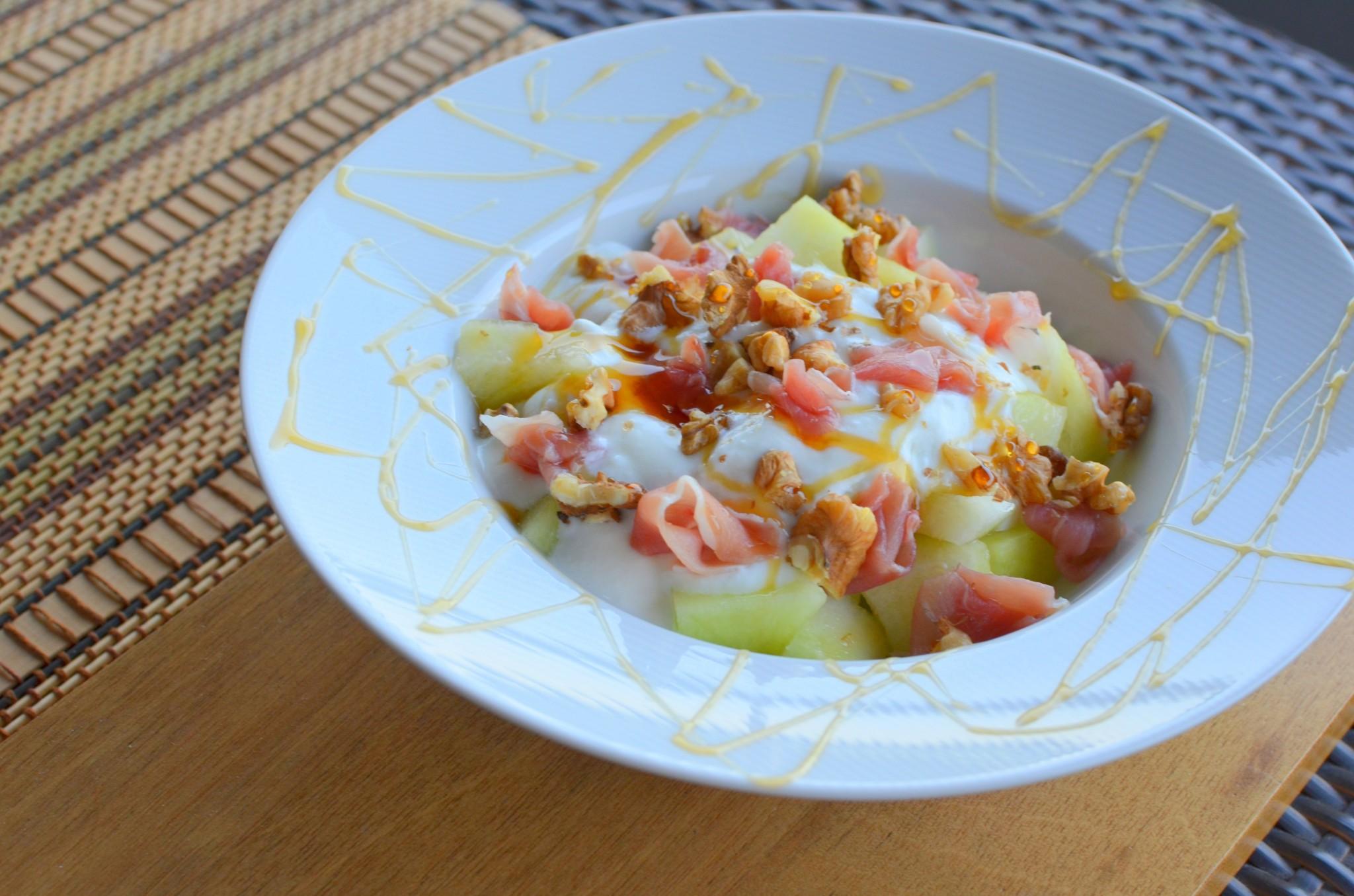 Salada de Meloa e Presunto